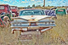 Title  Junkyard Series 1960's Chevrolet Impala   Artist  Cathy Anderson   Medium  Photograph - Photograph Digital Art
