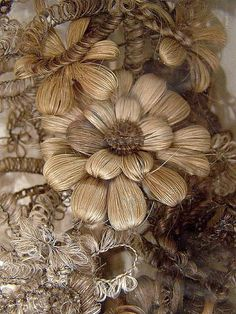 Victorian hair art - It was popular to use human hair to create intricate works of art, often used in mourning loved ones.