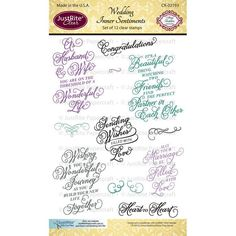 Wedding Inner Sentiments - 4 x 6 set of 12 images designed by Amy