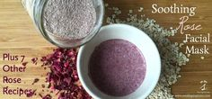 Rose petals, oats, and rhassoul clay combine to make this wonderfully soothing and beautifully scented facial mask. Seven other rose petal recipes are included for more ideas on using this lovely h… Oats Face Mask, Clay Face Mask, Acne Face Mask, Acne Facial, Face Skin, Chocolate Face Mask, Moisturizer For Dry Skin, Homemade Face Masks, Best Face Products