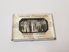 Vintage Antique 30s Miniature Photo Postcard Endless Caverns New Market Virginia
