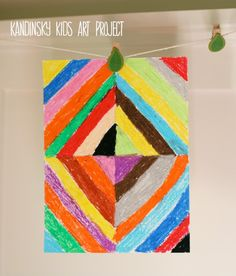 kandinsky kids art project = coloring to the mood the child hears in the music Kandinsky For Kids, Kandinsky Art, Classroom Art Projects, Art Classroom, Projects For Kids, Kids Crafts, Classroom Ideas, Ecole Art, Summer Art