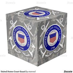 "United States Coast Guard Photo Cube; $62.95 - #stanrail  8"" Photo Cube: A picture is a poem without words. Create 5 beautiful poems and beautify any desktop or bookshelf. Mix and match cubes to help showcase a completely one-of-a-kind décor! And while it proudly displays on your desk, maybe its beauty will help inspire you to create a poem with words as well. @stanrails_store"