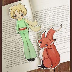 Le Petit Prince set of bookmarks by ribonitachocolat on Etsy