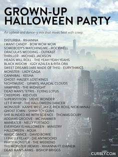 The Ultimate Halloween Music Guide: 80 Tunes For Every Mood – – Source by Related posts: Your Ultimate Halloween Playlist Is Here 6 Fab Halloween Party Games Your… Halloween Tags, Halloween Designs, Halloween Music, Adult Halloween Party, Halloween Movies, Halloween Birthday, Halloween Party Decor, Halloween 2019, Holidays Halloween