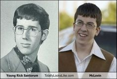 Young Rick Santorum looks like McLovin'.