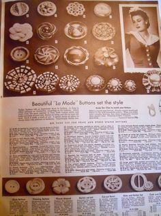 Sears Catalog -La Mode Buttons