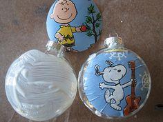 Charlie Brown/Peanuts Christmas ornaments tutorial