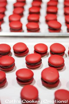 Cherry Ripe Macarons from Cath's Cookery Creations! | www.cathscookerycreations.com