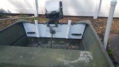 1439 Lowe Jon Boat Transom Rebuild With Pvc Board Boat