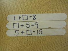 T's First Grade Class: Missing Addend Kaboom! Post includes a Teacher Tipster video clip. Math Resources, Math Activities, Math Strategies, Math Tools, Second Grade Math, Grade 1, Math School, Math Addition, Math Workshop