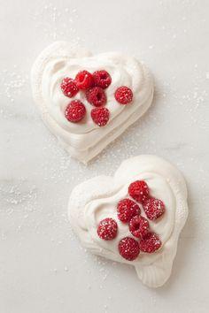 Chantilly cream pavlova hearts