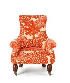 Orange chair going into my imagination inspiration room Love Chair, Funky Furniture, Orange Furniture, Accent Furniture, Deco Design, Take A Seat, Home And Deco, Wingback Chair, Desk Chair