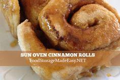 Sun Oven Cinnamon Rolls