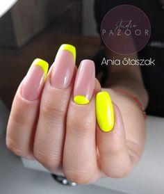 #nails #nails2inspire #nailstoinspire #nailsinspiration #studiopazoor #longnails #fluomania #colourfullnails #yellownails #naturalnails #frenchnails #paznokcie #inspiracjepaznokciowe #nailsbyania #ballerina #ballerinanails #squarenails #trumienki #nails2020 #summernails #moonnails Nails, Finger Nails, Ongles, Nail, Nail Manicure