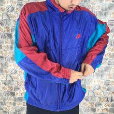 33e4f3c7414 NIKE JACKET Windbreaker Medium Vintage 90s Nike Swoosh Multicolor  Sportswear Training Nike Air Activewear Windrunner Size M