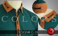 Best fashion of Shalwar Kameez Collar Neck Design 2020 on Kurta by Colors For men. COLORS styliysh Shalwar Kameez and Waist Coats for party and casual wear in Pakistan. Gents Kurta Design, Boys Kurta Design, Man Dress Design, Shalwar Kameez Pakistani, Simple Kurta Designs, Boys Shirts, Men Dress, Men Shirt, Man Fashion