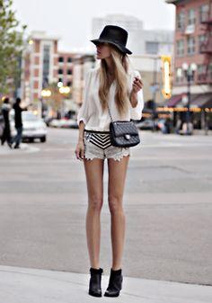 Cool embelished shorts