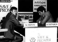 Karpov vs Kasparov. 10 ans d'affrontement qui nous laisse un total de 144 parties