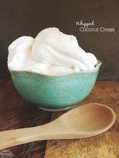 whipped coconut cream, a dairy-free whipped cream substitute