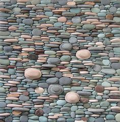 ''Rock and Hard Place'', 2004, by mosaic artist Sonia King, medium: pebbles