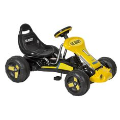 Go Kart 4 Wheel Kids Ride on Car Stealth Pedal Powered Outdoor Racer Blk/Yellow in Toys & Hobbies, Outdoor Toys & Structures, Ride-Ons & Tricycles | eBay