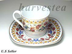 TREULAND PORCELAIN ESPRESSO COFFEE CUP SET/GREEK,TURKISH COFFEE CUP SET  #TRUELAND