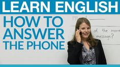 Speaking English - How to answer the phone -         Repinned by Chesapeake College Adult Ed. We offer free classes on the Eastern Shore of MD to help you earn your GED - H.S. Diploma or Learn English (ESL) .   For GED classes contact Danielle Thomas 410-829-6043 dthomas@chesapeke.edu  For ESL classes contact Karen Luceti - 410-443-1163  Kluceti@chesapeake.edu .  www.chesapeake.edu