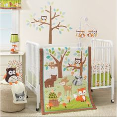 Bedtime Originals Friendly Forest 3-Piece Crib Bedding Set, Brown