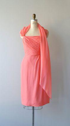 Lailat silk chiffon dress vintage 1960s dress by DearGolden