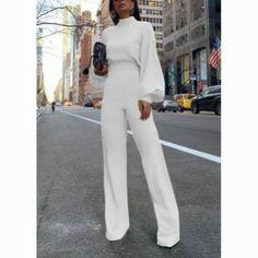 Combinaisons de demi-col à la mode pure bishop sleeve -