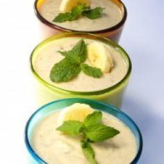 Bananen Mousse (als cc gebakken is dmv een appelboor in de cc doen