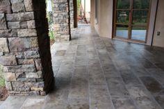 pictures of patio floors | patio with limestone floor