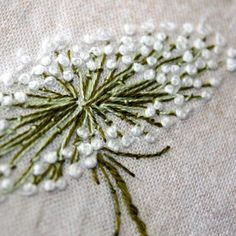 Dandelion in French Knots...Love this, and it's so easy!