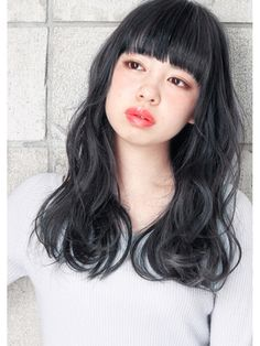 hair salon Gallica 【ヘア サロン ガリカ】 ☆ネイビーグレージュ & 無造作☆ semi-longミルクティーカラー Permed Hairstyles, Hairstyles With Bangs, Diy Hairstyles, Medium Hair Styles, Long Hair Styles, Long Curls, Long Hair With Bangs, Everyday Hairstyles, About Hair