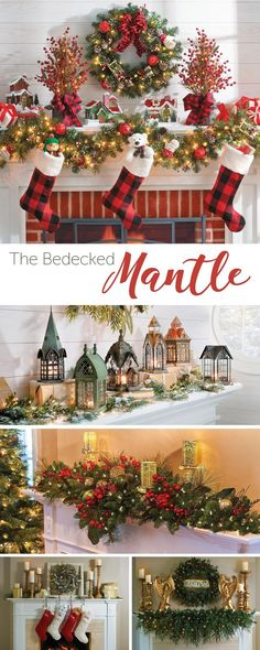 Don't know how to decorate your mantel for Christmas? Check out our ideas!