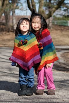 Should I knit Scout a rainbow poncho for fall?  Yes or no?