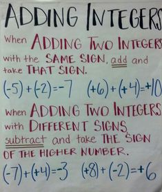 Subtracting Negative and Positive Integers - - Yahoo Image Search Results