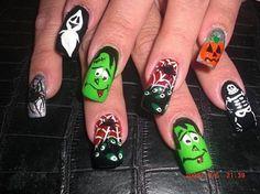 35 Ideas para pintar tus uñas de Halloween | Decoración de Uñas - Manicura y NailArt