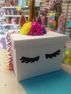 Unicorn Valentine, Valentine Day Boxes, Unicorn Party, Love Box, School Parties, Toy Chest, Jars, Wrapping, Projects To Try