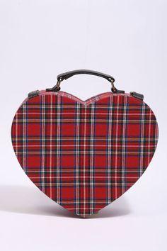 ~ Plaid Heart Lunch Box ~