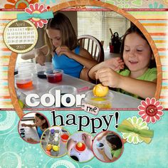 Color Me Happy, digital layout by MamaK321