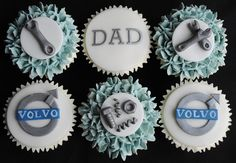Volvo mechanic themed cupcakes by thecustomcakeshop, via Flickr