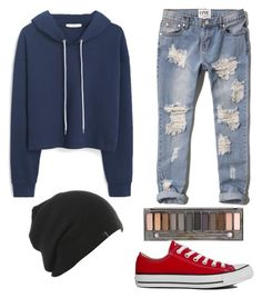 """""""bad romance"""" by gsheenika ❤ liked on Polyvore featuring MANGO, Abercrombie & Fitch, Converse and Urban Decay"""