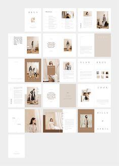 fashion magazine BRUS Fashion Magazine am - fashion Modelo Portfolio, Mise En Page Portfolio, Portfolio Design, Portfolio Layout, Graphisches Design, Flat Design, Logo Design, Graphic Design, Cover Design