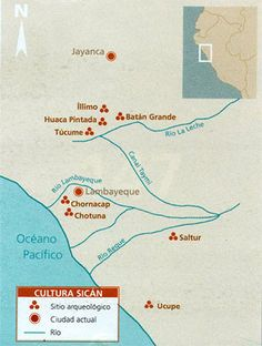 mapa cultura lambayeque sican