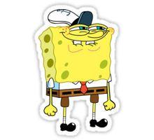 Spongebob Smirk Pegatina