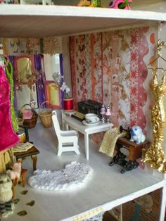The Scrapbook Dollhouse Project: The Craft Room! Jodi you should do this in the Barbie house!!!!