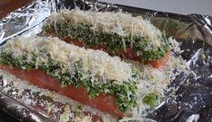 Roasted Salmon Fillet with a Pesto Crust http://www.glutenfreefi.com/recblog/2014/8/30/roasted-salmon-fillet-with-a-pesto-crust