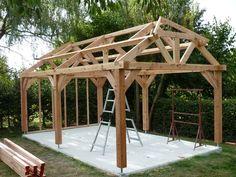 http://www.bourguignonbois.beWell Built Timber frame Carport/Garage